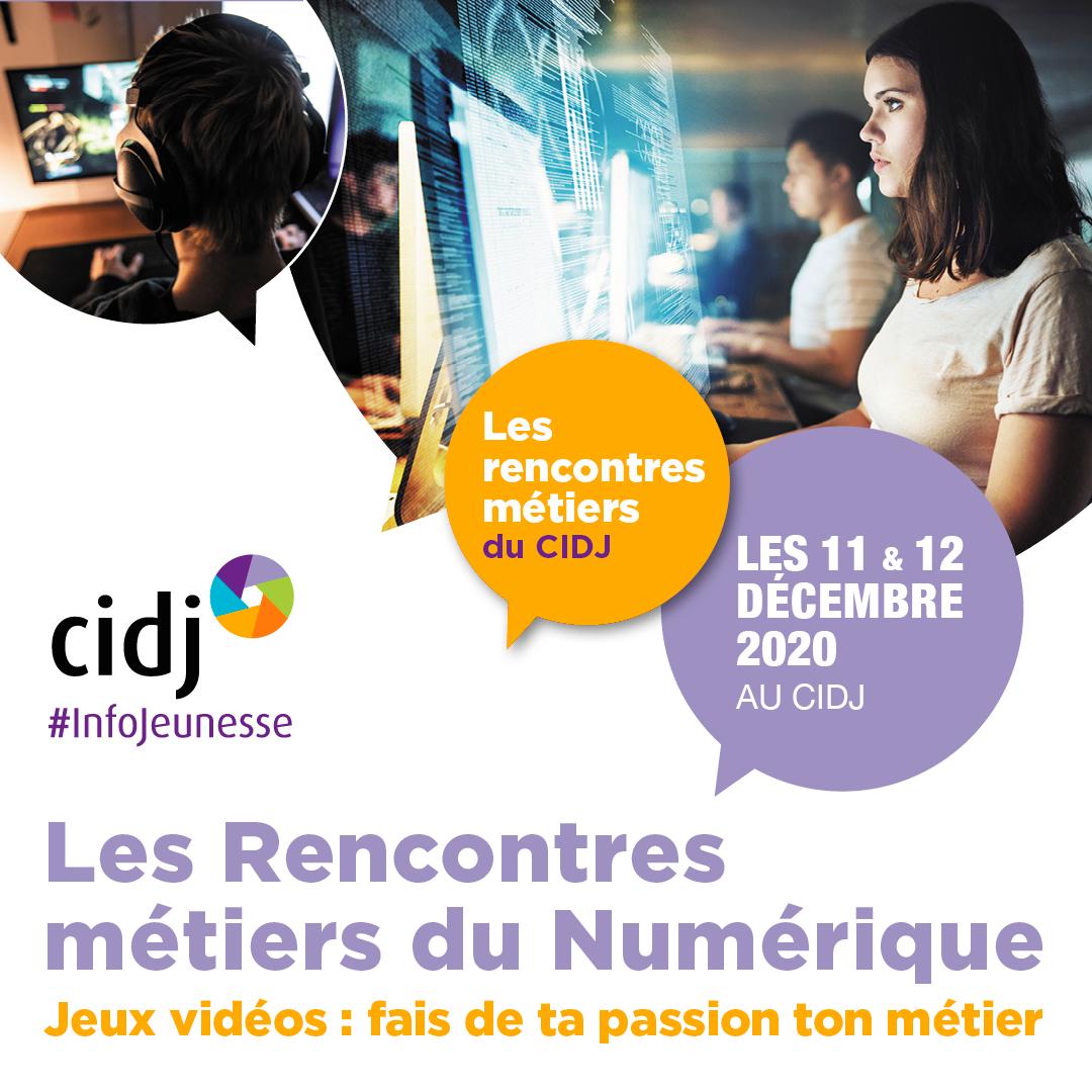 Les Rencontres métiers du Numérique, les 11 & 12 décembre 2020